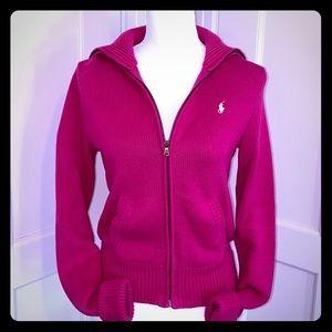 Ralph Lauren Sport Pink Zippered Cardigan